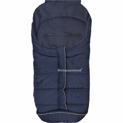 Fußsack Blau Kinderwagen Buggy Winter Winterfußsack Universal Thermo Fleece
