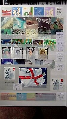 Full Sets of GB commemorative Stamps for Year 2002 Unmounted Mint.