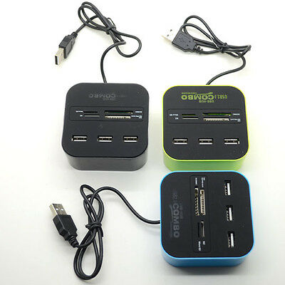USB 3.0 Hub 3 Ports Card Reader Combo for MS/MS PRO DUO/SD/MMC/M2/Micro UK STOCK