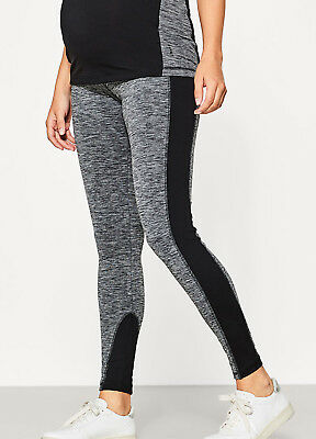 NEW - Esprit - Sports Leggings in Black Marle - Maternity Fitness Leggings
