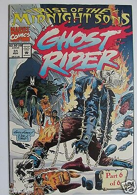 # 31 1992 GHOST RIDER COMIC - RISE OF THE MIDNIGHT SON Fine+