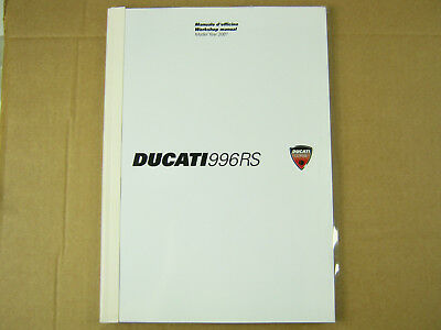 Ducati Corse 996Rs 2001 Official Workshop Manual