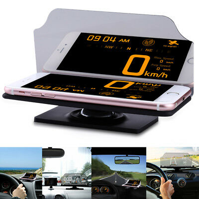 Auto Gps Navigazione Hud Head Up Display Smartphone Proiettore Stand Supporto IT