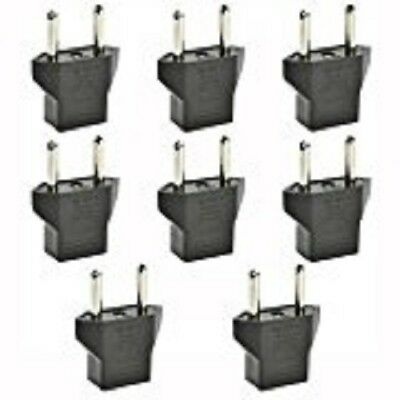 8 PCS DE-LUXE American USA 110 VOLT to European 220 V Outlet Plug Adapter