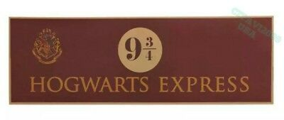 "NEW HARRY POTTER HOGWARTS EXPRESS 9 3/4  POSTER SIGN WALL DECORATION 28.5""x 9.5"""