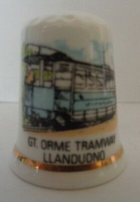 Jones The Thimble GT. Orme Tramway Llandudno Thimble Bone China Made in England