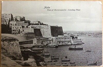 Vintage Pc View Of Marsamuscetto Landing Place Valetta Malta Paddle Steamer