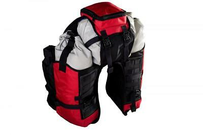 40 L Red Codura Motorcycle Dry Central Bag Soft Luggage Enduro Off Road Adventur