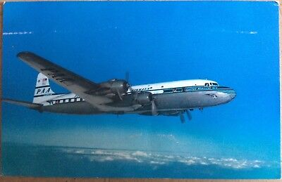VINTAGE COLOURED PC PAN AMERICAN WORLD AIRLINES SUPER 6 CLIPPER AEROPLANE 1960s