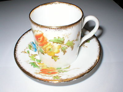 Small Royal Albert Coffee Can /  Cup & Saucer Floral  Design