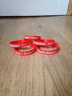 Type 1 Diabetic, Silicon Bracelet, Diabetes, Silicone Bracelet, Medical Alert.