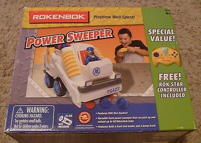 Rokenbok RC Power Sweeper value pack Rok Star controller included vehicle