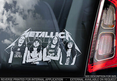 Metallica - Car Window Sticker -Band Decal Laptop Rock Music Vinyl Sign Art -v04