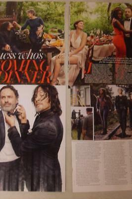 THE WALKING DEAD*Season 8* 4 Page Aus Oct 2017*Magazine Clipping*Norman Reedus