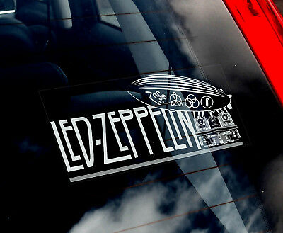 Led Zeppelin - Car Window Sticker -Band Decal Laptop Rock Music Symbols Zoso V01