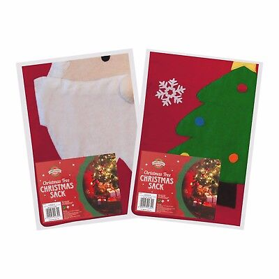 Felt Christmas Xmas Gift Santa Tree Sack Stocking Bag Presents Under Tree