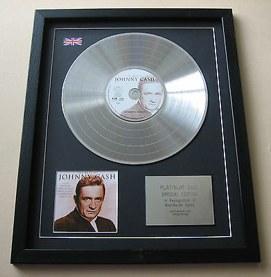JOHNNY CASH The Best Of Johnny Cash CD / PLATINUM LP DISC Presentation