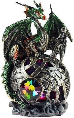 Index Of Taelth Green LED Colour Changing Dragon On Sphere Ornament Figurine