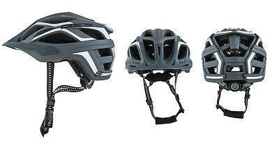 Dirty Dog Goose Adjustable Cycle Helmet in Grey/White L/XL