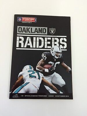 NFL RAIDERS VS DOLPHINS PROGRAMME 2014 London