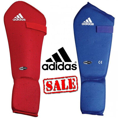 adidas Climacool Martial Arts Boxing Shin Instep Protection Pads Red Blue UK