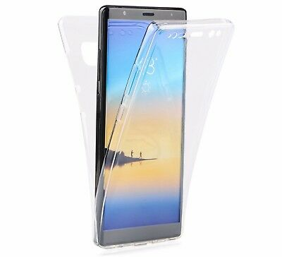 Cover Slim 360 Fronte Retro Custodia TPU Trasparente per Samsung Galaxy Note 8 9