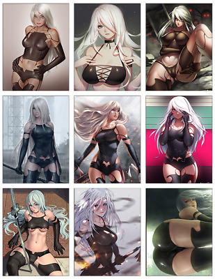 "NIER AUTOMATA - A2 9-pc Stickers Set - 2.5""x3.25"" (PS4, XBOX, GAME)"