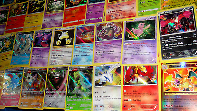 Pokemon 50 Card ALL HOLO Lot - GUARANTEED Holo & Reverse Rare Common Uncommon