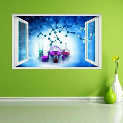 Chemistry Elements Compounds Lab Test Tubes Wall Sticker Mural Decal Decor CK25