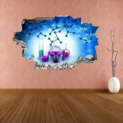 Chemistry Elements Compounds Lab Test Tubes Wall Sticker Mural Decal Decor CK26