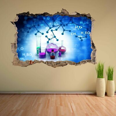 Chemistry Elements Compounds Lab Test Tubes Wall Sticker Mural Decal Decor CK27