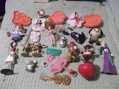 junk drawer 20 lot dolls pins ornaments toys character dolls Dorothy Scarecrow