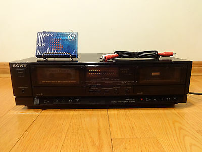 Sony TC-W345 Dual Stereo Cassette Deck Recorder 1995 TESTED 100% Works Great!
