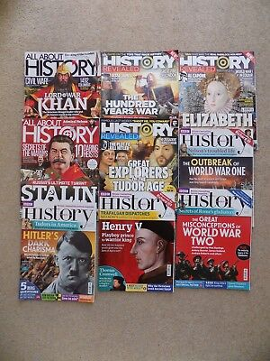 9 History Magazines (All About History 2) (BBC History 4) (History Revealed (3)