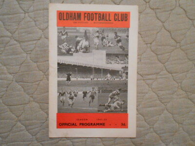 Oldham V Barrow Rugby League Match Programme September 1960