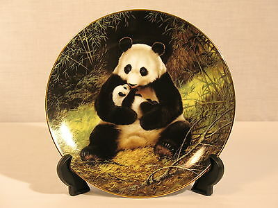 Vintage Panda Bear Collector Plate Will Nelson WS George Endangered Species