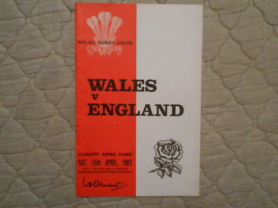 Wales V England Rugby League Match Programme 1967