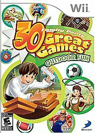 Family Party: 30 Great Games Outdoor Fun (Nintendo Wii, 2009)  Complete  Fast