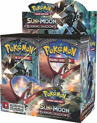 10 BURNING SHADOWS Booster Pack Lot - Factory Sealed From Box Pokemon Cards