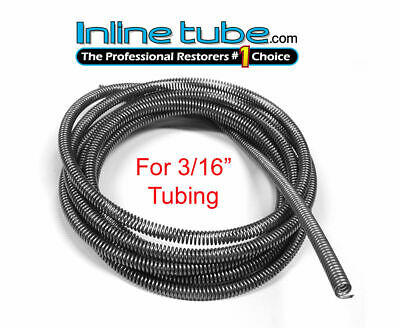 3/16 Brake Line Tube Spring Wrap Armor Guard Tubing Protectant Stainless 16FT SS