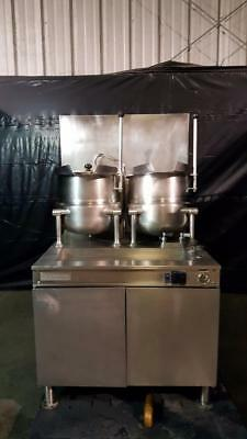 Cleveland 36GMK1010200 (2) 10 Gallon Tilting 2/3 Steam Jacketed Steam Kettles