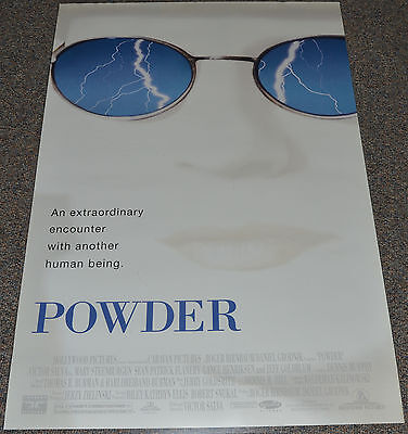 POWDER 1995 ORIG. DS 27x40 ONE SHEET MOVIE POSTER! SEAN PATRICK FLANNERY SCI-FI!