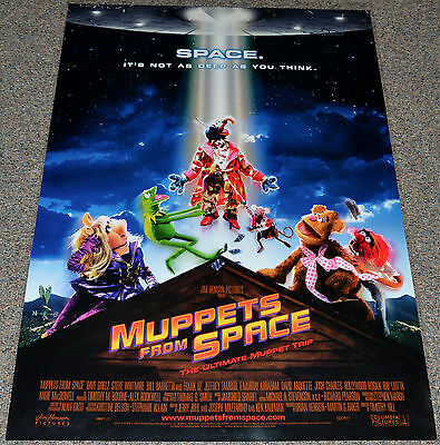 MUPPETS FROM SPACE 1999 ORIGINAL DOUBLE-SIDED 27x40 ONE SHEET MOVIE POSTER!
