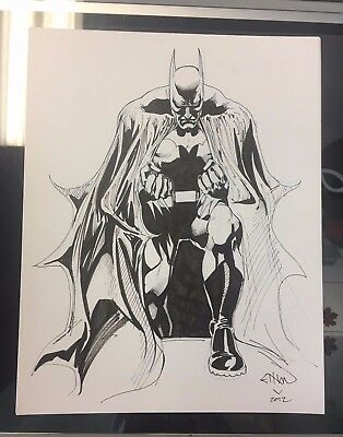 Batman Original Art Sketch By Ethan Van Sciver (2012)