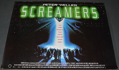 SCREAMERS 1995 ORIG. 40x30 DS BRITISH MOVIE POSTER! PETER WELLER HORROR SCI-FI!