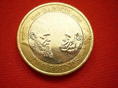 £2 2009 Charles Darwin 2 pound coin  - Free post
