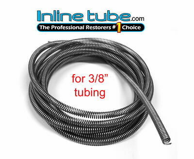 3/8 Fuel Line Tube Spring Wrap Armor Guard Cover Tubing Protector Stainless 5'