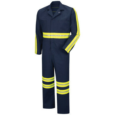 Coveralls with Enhanced Visibility Safety Blended w  7 pockets size 52, BN