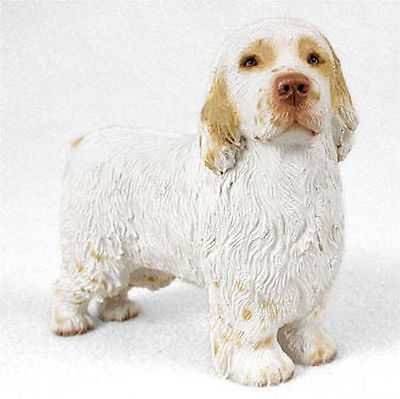 Clumber Spaniel Figurine Hand Painted Statue