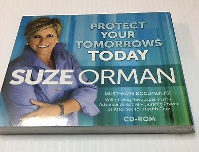 Suze Orman Protect Your Tomorrow Today (Cd Rom) New & Sealed